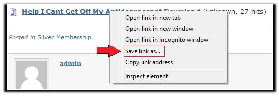 Help Download save link as